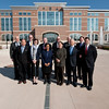 Council on Foriegn Relations group photo in front of MWH .   (Photo by: Patrick A. Albright/MCoE PAO Photographer)