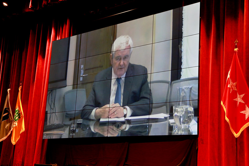 Newt Gingrich VTC video teleconference