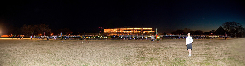 CSM Rice's final formation run at Fort Benning, 26 MAR 2010.  This 30 megapixel stitched image can be viewed in much larger sizes for best results.