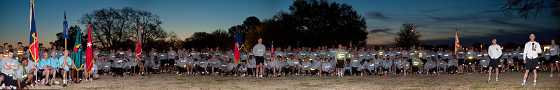 CSM Rice's final formation run at Fort Benning, 26 MAR 2010.  This 43 megapixel stitched image can be viewed in much larger sizes for best results.