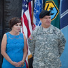 (FORT BENNING, Ga) Maj. Gen. Scott Miller takes command of the Maneuver Center of Excellence and Fort Benning from Maj. Gen. H. R. McMaster July 11, 2014, at the Parade Field. (Photos by: Patrick A. Albright/MCoE PAO Photographer)