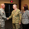 (FORT BENNING, GA) Maj. Gen. H. R. McMaster farewells  Lt. Col. Michael Ahern during a ceremony, Dec. 12, 2013 at the Maneuver Center of Excellence. (Photos by Ashley Cross/MCoE PAO Photographer)