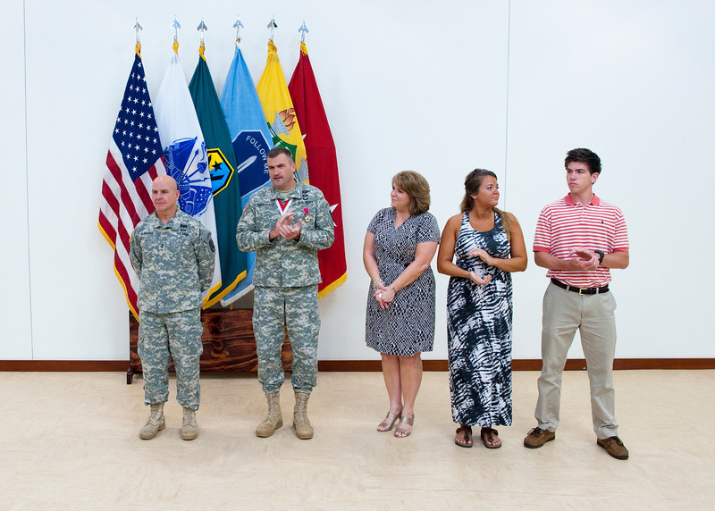 (FORT BENNING, Ga) PCS award ceremony and presentation of the Order of St.<br /> George medal for COL. Snodgrass June 18, 2014 at McGinnis-Wickam Hall. (Photos by: Patrick A. Albright/MCoE PAO Photographer)