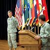 (FORT BENNING, Ga) Soldiers and civilians attend the welcome ceremony for BG James E. Rainey, the incoming Infantry Commandant and Chief of Infantry, August 01, 2014 in Derby Auditorium.  Maj. Gen.  Scott Miller gave remarks.   (Photos by: Patrick A. Albright/MCoE PAO Photographer)