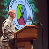 (FORT BENNING, Ga,) Multiple speakers took the stage on the second day of The Annual Maneuver Conference, Wednesday, September 11, 2013 in Marshall Auditorium.  The day began with a 9/11 Observance. (Photo by: Patrick A. Albright/MCoE PAO Photographer)