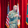 Col. Travis Thompson speaks on soldier and squad modernization strategy and small arms ammunition configuration at the 2017 Maneuver Warfighter Conference on September 14, 2017. (Photos by: Markeith Horace/MCoE PAO Photographer