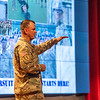 FORT BENNING, Ga. – Gen. Paul E. Funk II, commanding general of the U.S. Army Training and Doctrine Command, outlines TRADOC's priorities during the opening day of the three-day 2019 Maneuver Warfighter Conference Sept. 10 here. The conference, hosted by the Maneuver Center of Excellence, runs through Sept. 12 and brings together military experts for discussion of key issues related to the nation's maneuver force. (U.S. Army photo by Patrick A. Albright, Maneuver Center of Excellence and Fort Benning Public Affairs)
