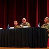 FORT BENNING, Ga. – A panel of military experts discusses trends<br /> related to the U.S. Army's Combat Training Centers Sept. 11 here<br /> during the 2019 Maneuver Warfighter Conference at McGinnis-Wickam<br /> Hall. Hosted the Maneuver Center of Excellence, the conference runs<br /> Sept. 10-12 and brings together key military professionals to explore<br /> issues, ideas and trends related to the Army's maneuver force. Combat<br /> Training Centers provide fighting units with rigorous training that<br /> mimics the circumstances of actual combat.