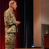 """FORT BENNING, Ga. – Gen. James C. McConville, U.S. Army Chief of Staff, talks about Army transformation during the 2019 Maneuver Warfighter Conference here Sept. 12 at McGinnis-Wickam Hall. Hosted by Fort Benning's Maneuver Center of Excellence, the conference runs Sept. 10-12 and gathers senior leaders and subject matter experts from across the Army, sister services and from partner nations' militaries to discuss issues relevant to the Army's maneuver force. The theme of this year's conference is """"The Brigade Combat Team: Readying for Large Scale Combat Operations."""" (U.S. Army photo by Patrick A. Albright, Maneuver Center of Excellence, Fort Benning Public Affairs Office)"""