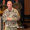 """FORT BENNING, Ga. – Maj. Gen. James Mingus, commanding general of the 82nd Airborne Division, speaks about an integrated tactical network during the 2019 Maneuver Warfighter Conference Sept. 12 here at McGinnis-Wickam Hall. Hosted by Fort Benning's Maneuver Center of Excellence, the conference gathers senior leaders and subject matter experts from across the Army, sister services and from partner nations' militaries to discuss issues relevant to the Army's maneuver force. The theme of this year's conference is """"The Brigade Combat Team: Readying for Large Scale Combat Operations."""" (U.S. Army photo by Patrick A. Albright, Maneuver Center of Excellence, Fort Benning Public Affairs Office)"""