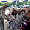 (FORT BENNING, GA) Lt. Col. Veronica A. Kouassi relinquishes command of the Warrior Transition Battalion to Lt. Col. Kyle E. Feger during a ceremony May 13, 2013 at the Warrior Transition Unit Administrative Services Battalion Headquarters. (Photo by Ashley Cross/MCoE PAO Photographer)