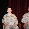 (FORT BENNING, Ga) COL Scott B. Avery,and LTC R.Elaine Freeman of Fort Benning speaks during the Warrior Care Covenant Signing Ceremony on November 03, 2014 in Marshall Auditorium.(Photos by Markeith Horace/MCoE PAO Photographer)