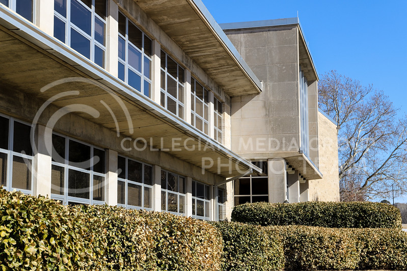 The exterior structure and design of Weber Hall. (Monica Melber | Collegian Media Group)