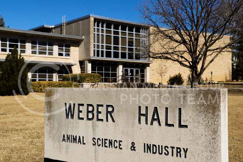 A view of Weber Hall, home to animal science and industry. (Monica Melber | Collegian Media Group)