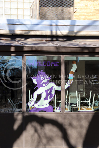 Call Hall's cafeteria window. (Monica Melber | Collegian Media Group)
