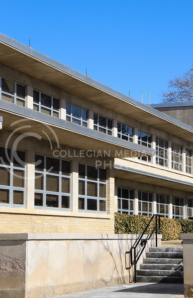 Windows of Weber Hall. (Monica Melber | Collegian Media Group)