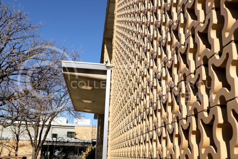 Call Hall exterior wall design. (Monica Melber | Collegian Media Group)
