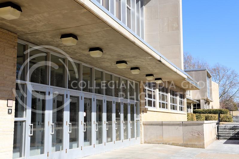 The entrance of Weber Hall. (Monica Melber | Collegian Media Group)