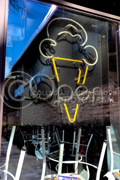 Call Hall ice cream window display sign. (Monica Melber | Collegian Media Group)