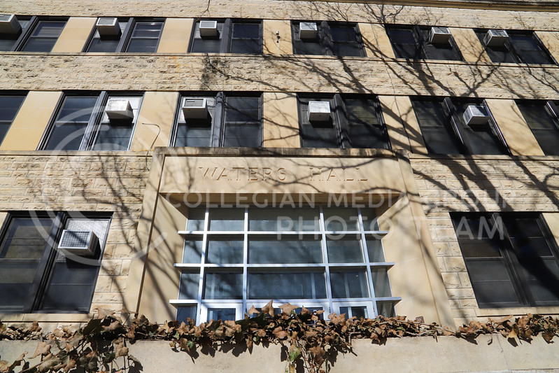 The exterior of Waters Hall. (Monica Melber | Collegian Media Group)