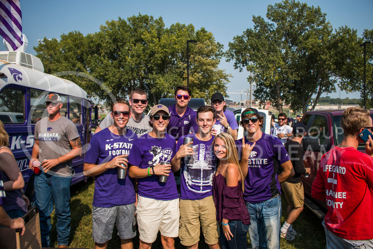 Students at Kansas State University celebrate the first football game of the 2017 Season by dressing the part to support the Wildcats. (Logan Wassall | Collegian Media Group)