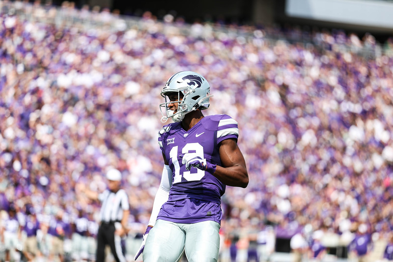 K-State football plays against Bowling Green in Bill Snyder Family Stadium on Sept. 7, 2019. The Wildcats beat the Falcons with a final score of 52-0. (Emily Lenk | Manhappenin' Magazine)