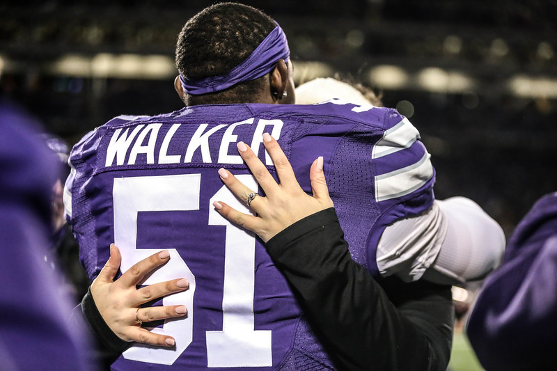 K-State's football team plays against Iowa State in Bill Snyder Family Stadium on Nov. 30, 2019. The Wildcats finished their final home game of the season with a win against Iowa State. The final score was 27-17. (Emily Lenk | Collegian Media Group)