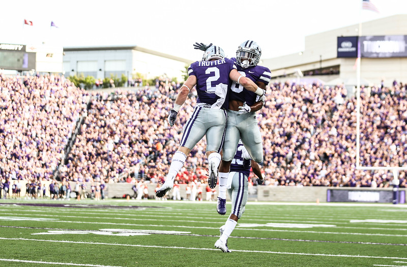 K-State's football team plays against Nicholls State in Bill Snyder Family Stadium on Aug. 31, 2019. The Wildcats won 49-14. (Emily Lenk | Manhappenin' Magazine)