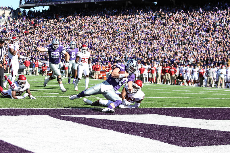 K-State takes on OU for their homecoming football game in Bill Snyder Family Stadium on Oct. 26, 2019. The Wildcats upset the No. 5 rated Sooners with a final score of 48-41. (Emily Lenk | Collegian Media Group)