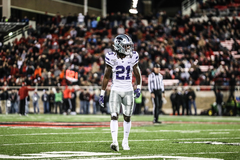 K-State's football team plays against Texas Tech at Jones AT&T Stadium in Lubbock, TX on Nov. 23, 2019. The Wildcats defeated the Raiders with a final score of 30-27. (Emily Lenk | Collegian Media Group)