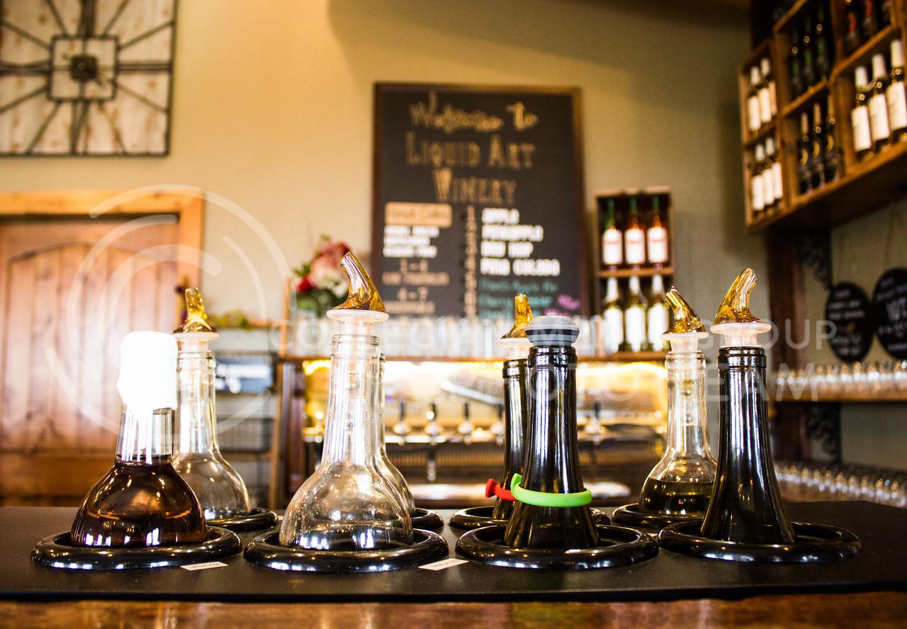 A glimpse of the Liquid Art Winery and Estate wine bar. (Regan Tokos | Collegian Media Group)