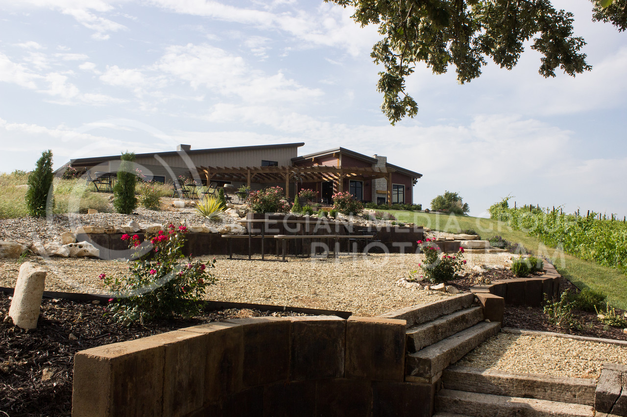 Liquid Art Winery and Estate sits on a hill overlooking Manhattan, Kansas just to the west of town. (Regan Tokos | Collegian Media Group)