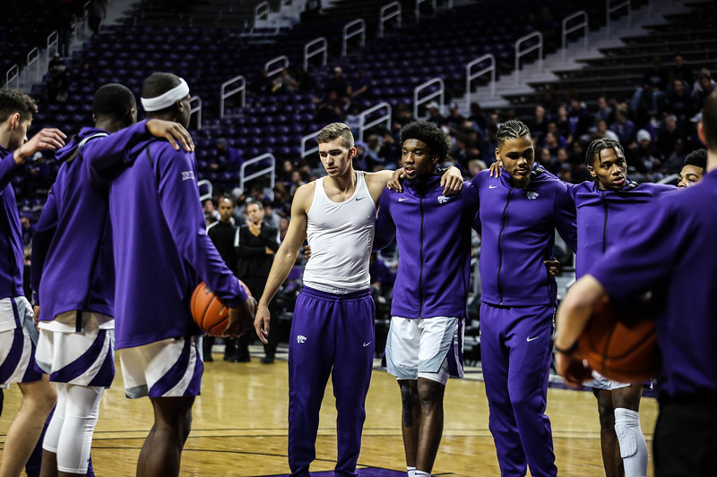 K-State's men's basketball takes on Monmouth in Bramlage Coliseum on Nov. 13, 2019. The 'Cats came out with a win and a final score of 73-54. (Emily Lenk | Collegian Media Group)