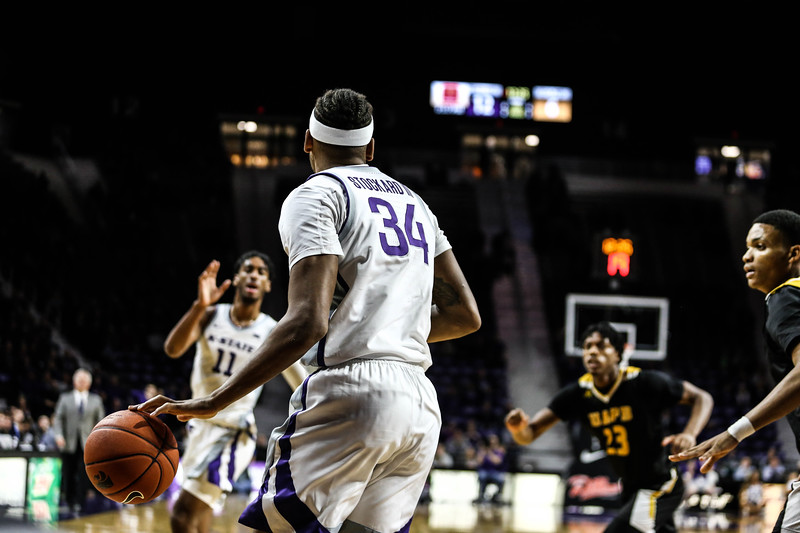 K-State's men's basketball team plays against Arkansas-Pine Bluff in Bramlage Coliseum on Nov. 19, 2019. The Wildcats came back strong in the second half and defeated the Golden Lions 62-51. (Emily Lenk   Collegian Media Group)