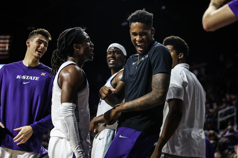 K-State's men's basketball team takes on North Dakota State in Bramlage Coliseum on Nov. 5, 2019. The Wildcats won with a final score of 67-54. (Emily Lenk | Collegian Media Group)