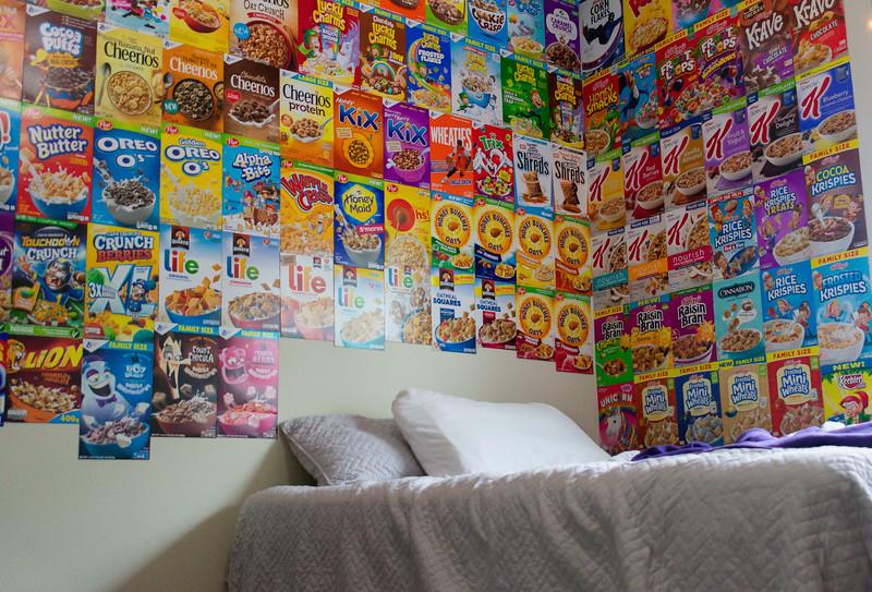 Spencer Fortney's Cereal Box Collection (Brooke Barrett | Collegian Media Group)