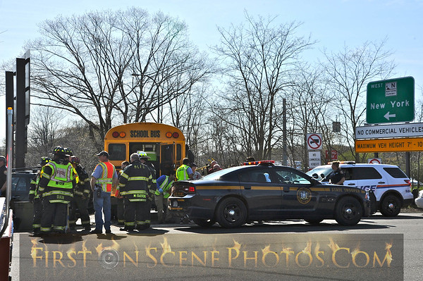 School bus accident in North Hills