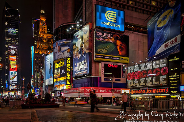 Sunday Night In Times Square—New York City