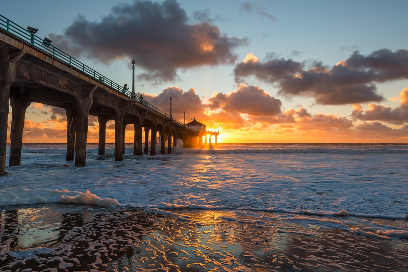 Setting Sun at Manhattan Beach Pier