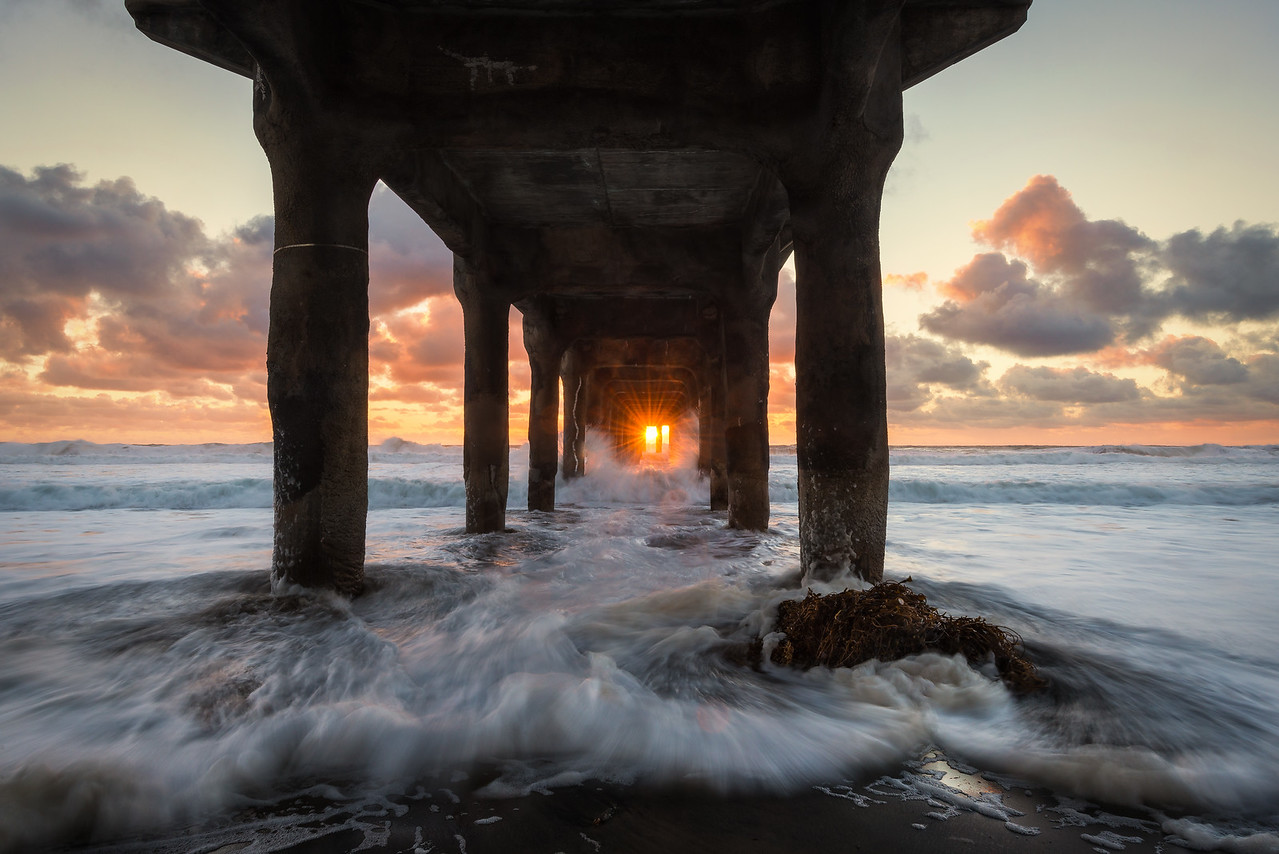 Sunset Under the Pier, Manhattan Beach, CA