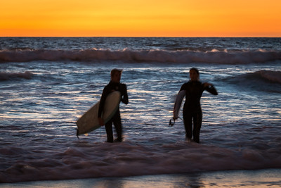 Done for the Night, Surfers, Manhattan Beach, CA