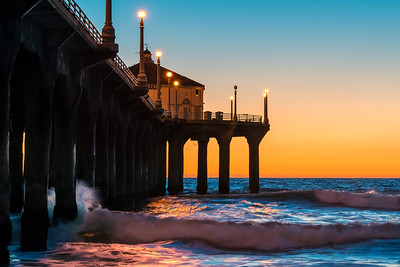 Colors of the Sunset, Manhattan Beach Pier, CA