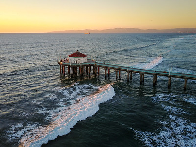 Manhattan Beach Pier as seen from a DJI Mavic Pro drone