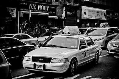 Taxi B&W