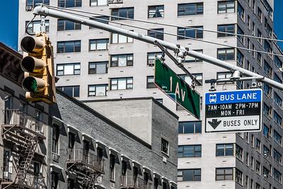 !st Ave Bus Lane