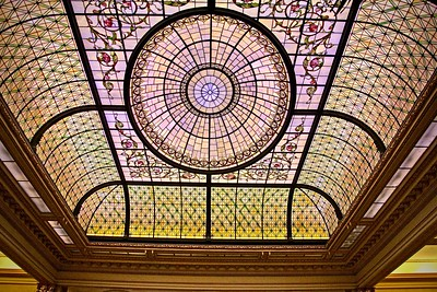 The Ceiling  in Palm Court at the Plaza Hotel
