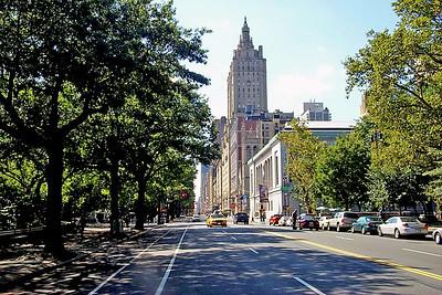View of Central Park West  in Manhattan