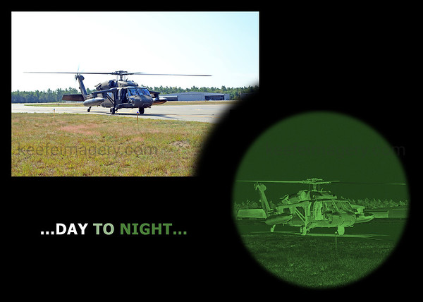 via Photoshop and very close to what I remember looking through NVG's on a dark night.