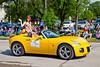 The 2010 Manitoba SunFlower Festival street parade in Altona, Manitoba, Canada.