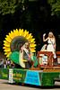 The Altona Sunflower Festival float at the 2012 Harvest Festival street parade in Winkler, Manitoba, Canada.